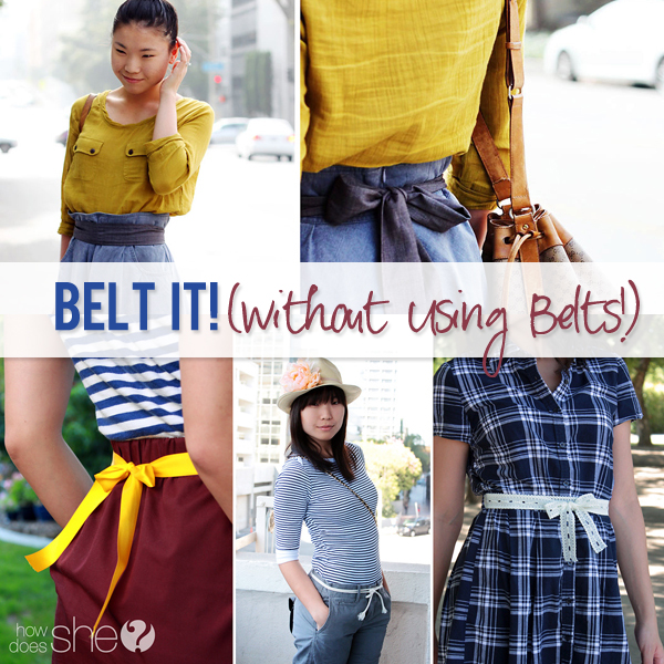 belt it without using belts