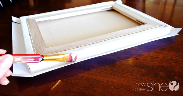 how to make a floating canvas frame for just 6