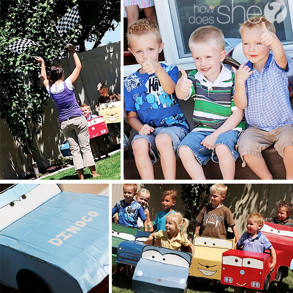 cars-themed birthday party
