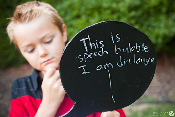 Express Feelings With Chalkboard Thought Bubbles
