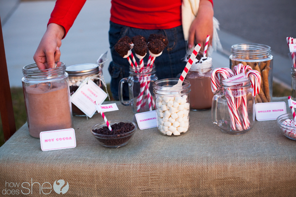 date night idea - hot chocolate stand