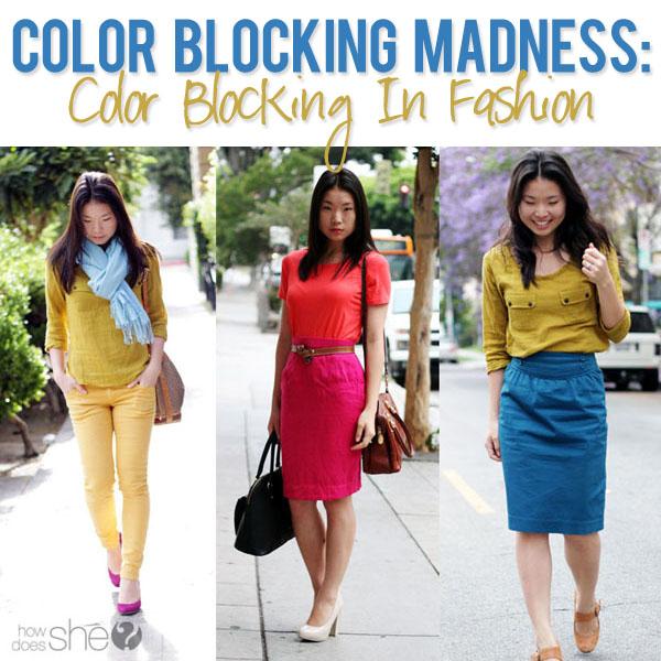 color blocking in fashion. Black Bedroom Furniture Sets. Home Design Ideas