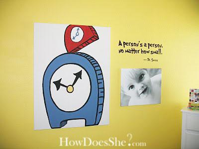 Dr Seuss themed toddler boy room