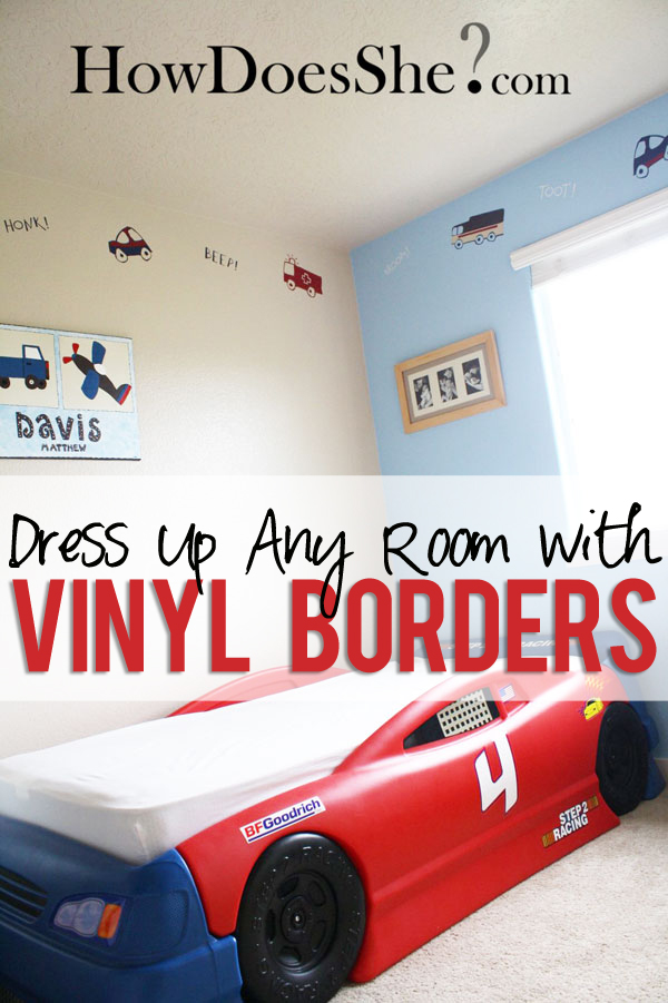 dress up any room with vinyl borders