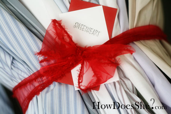 Dry cleaning gift idea