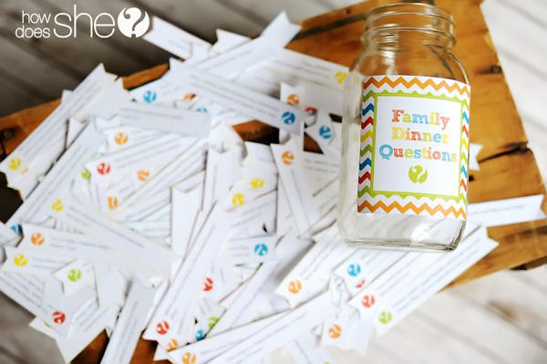 family dinner question printables