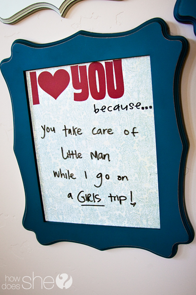 special things to do for your man chalkboard note