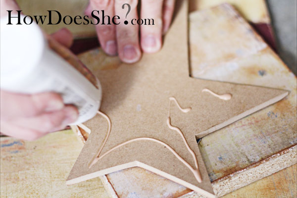 Make A wood Flag Decoration