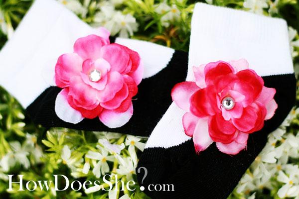 Cute Flower Toesies Socks
