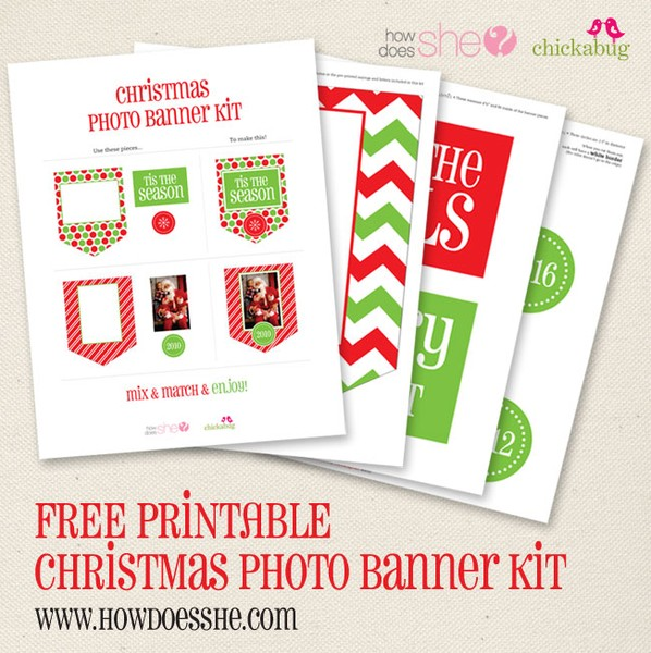 image relating to Free Printable Christmas Banner named Merry Xmas! Listed here is your Free of charge Xmas printable!