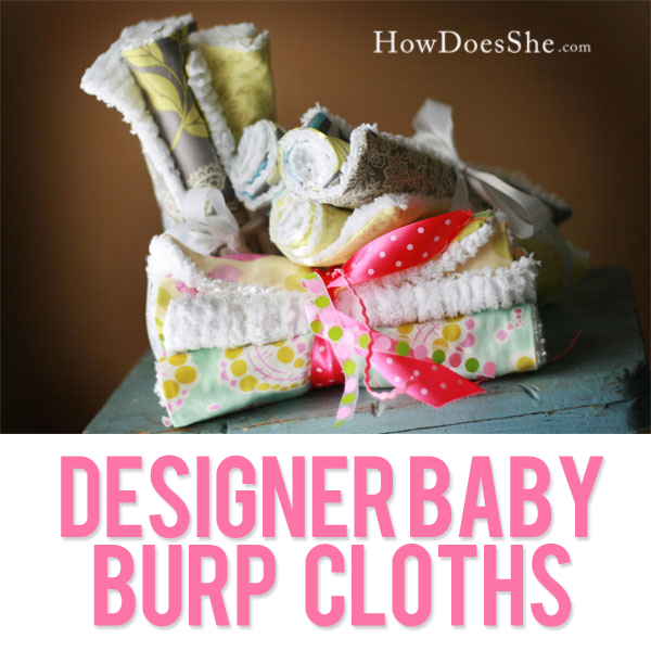 gorgeous Designer Baby Burp Cloths