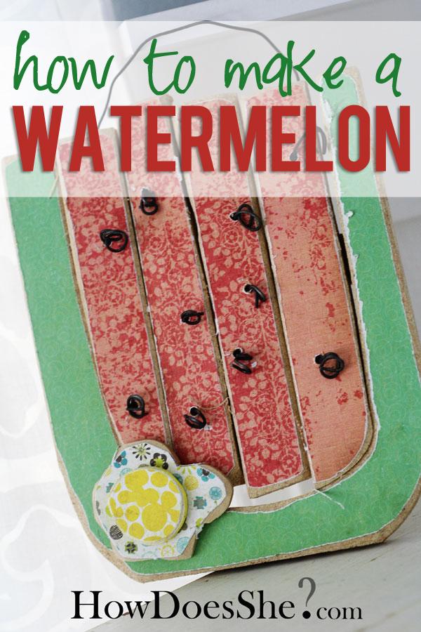 wooden watermelon