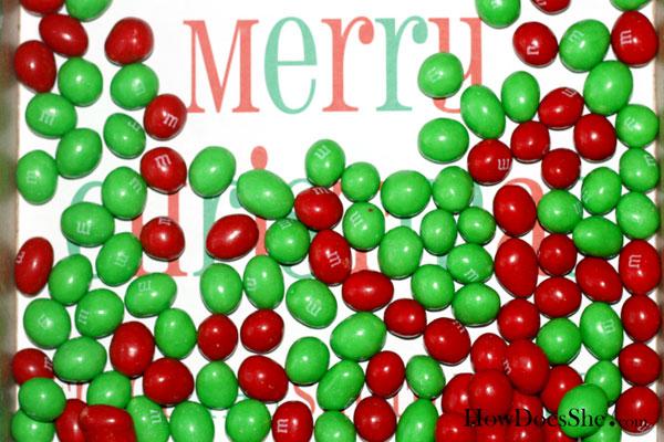 christmas m&m's