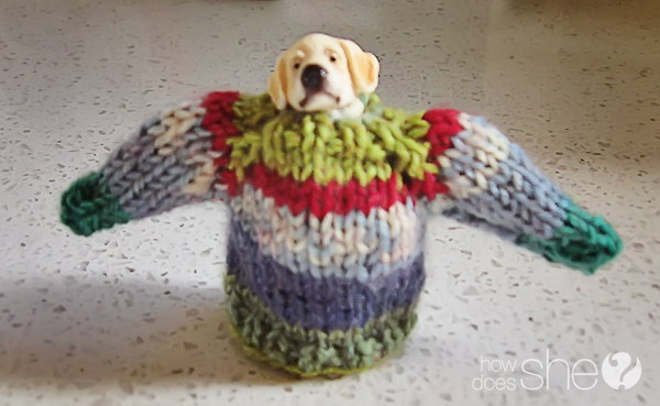 Cute mini sweater knitting pattern