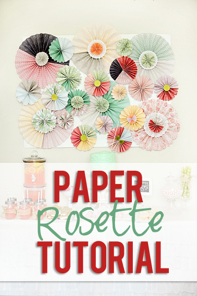 Chic paper rosette tutorial chic paper rosette backdrop tutorial mightylinksfo