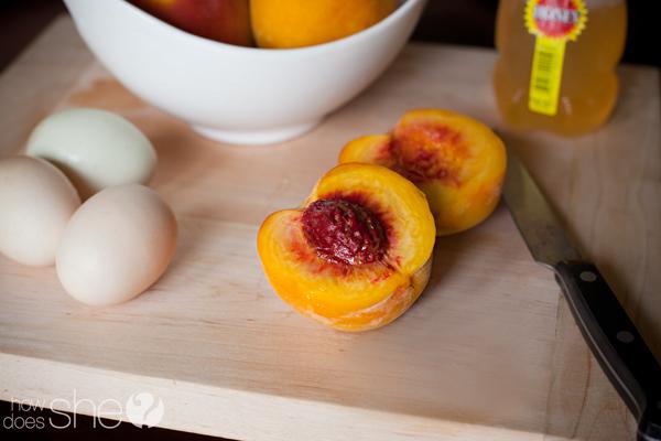 Homemade Peach facial