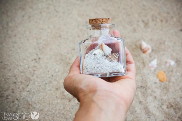 Seashells in a jar