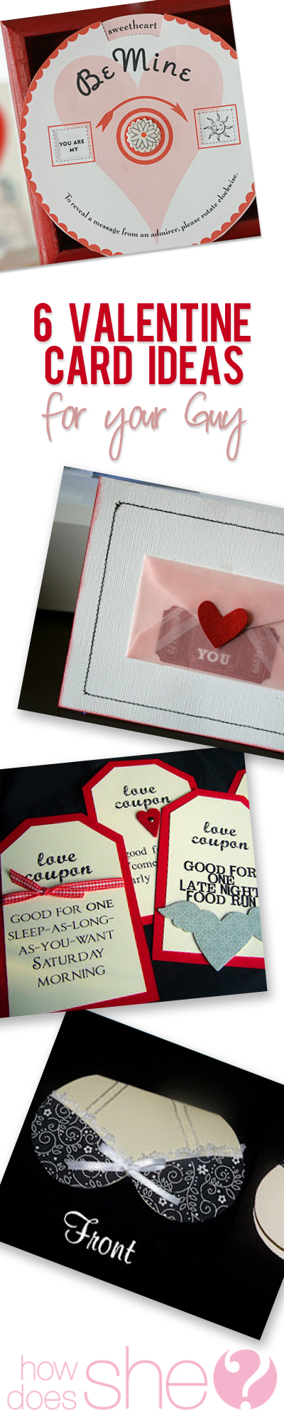 Six Valentine Card Ideas For