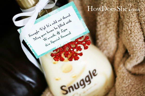3 Neighbor Christmas Gift Idea - Snuggle