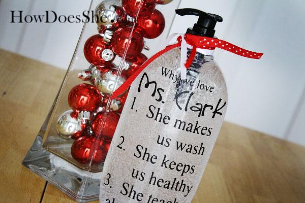 Teacher Appreciation Gift soap