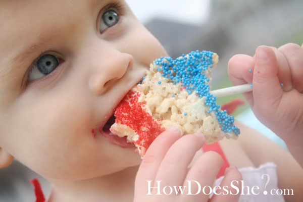 rice crispie Stars On A Stick