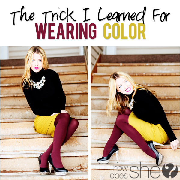 wearing color