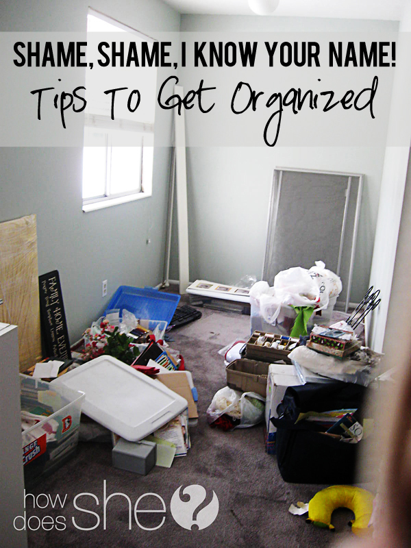 tips on getting organized