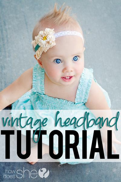 vintage headband tutorial